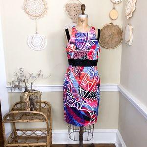 Emilio Pucci Abstract Geo Bold Print dress 42 12